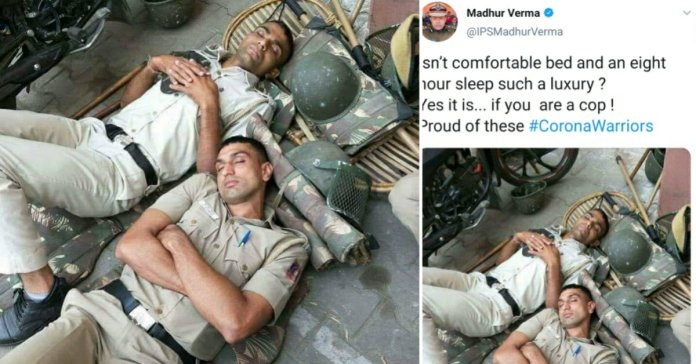 Corona Warriors: Picture of 2 Policeman sleeping on ground goes viral on twitter