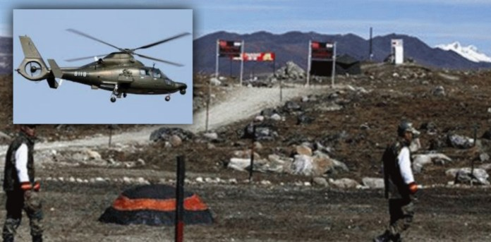 Chinese helicopter seen flying over Ladakh border, Indian Army alert