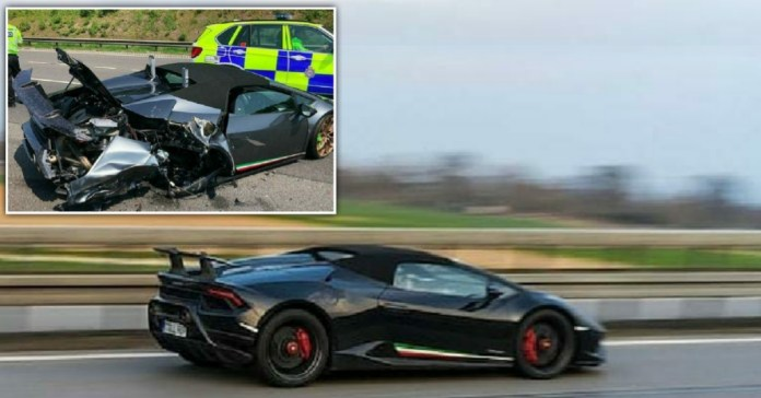 Newly bought Lamborghini wrecked in crash in just 20 minutes