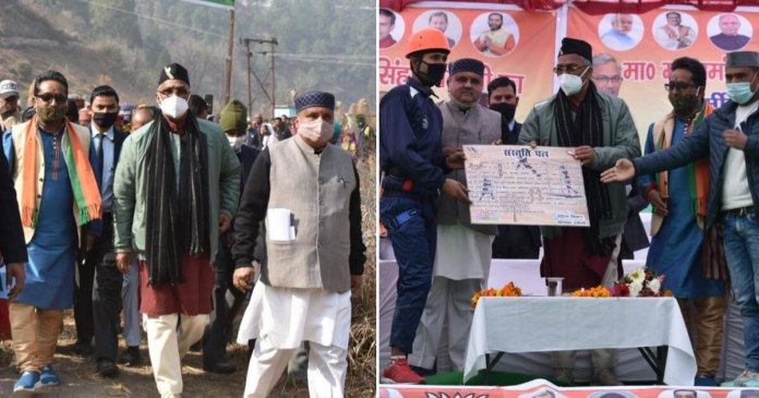 Trivendra Singh Rawat first CM to reach this inaccessible valley of Uttarakhand