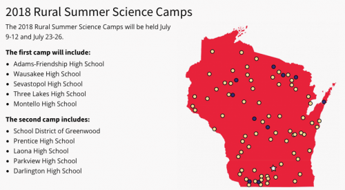 Image: Map of state and list of schools