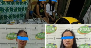 Two suspected female drug pushers residing at Barangay Agusan Pequeño, Butuan City