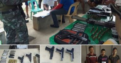 Mayoral bet, four others arrested for gun charges in Caraga