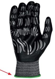 Handschuhe Tigerflex Saumfarbe grün