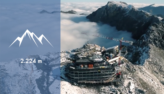 Gipfelstürmer 2224 Meter Höhe