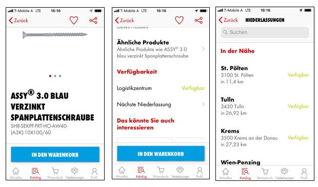 Verfügbarkeit von Artikeln mit der Würth App herausfinden