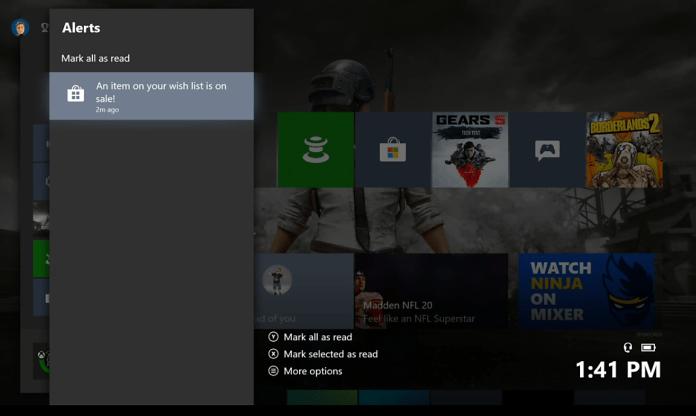 Wish List notifications