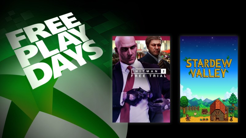 Free Play Days – Hitman 2 and Stardew Valley