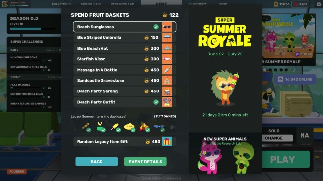 Super Animal Royale's Summer Royale Event