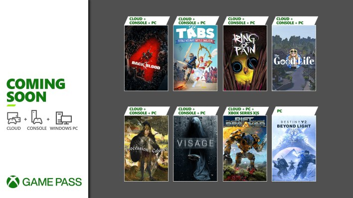 Xbox Game Pass Update - October 2021