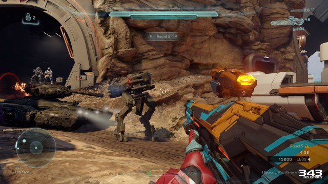 Halo 5 Guardians Warzone Firefight Tank Ride