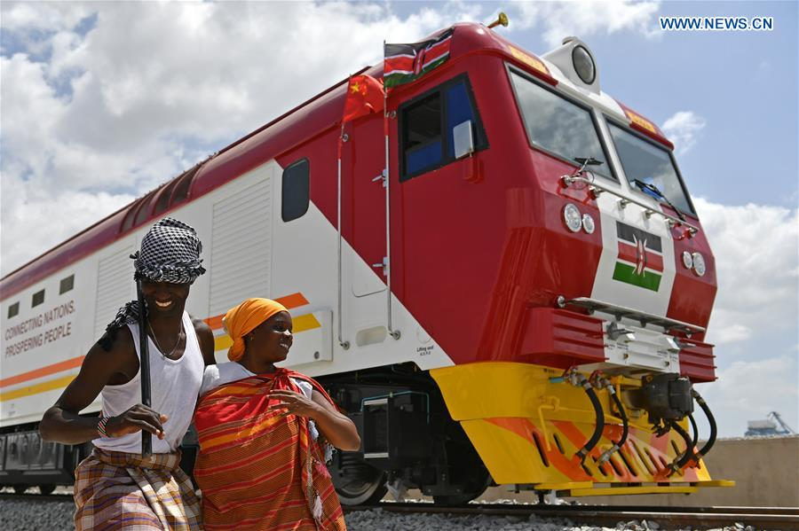 KENYA-MOMBASSA-STANDARD GAUGE RAILWAY-CHINA-LOCOMOTIVES