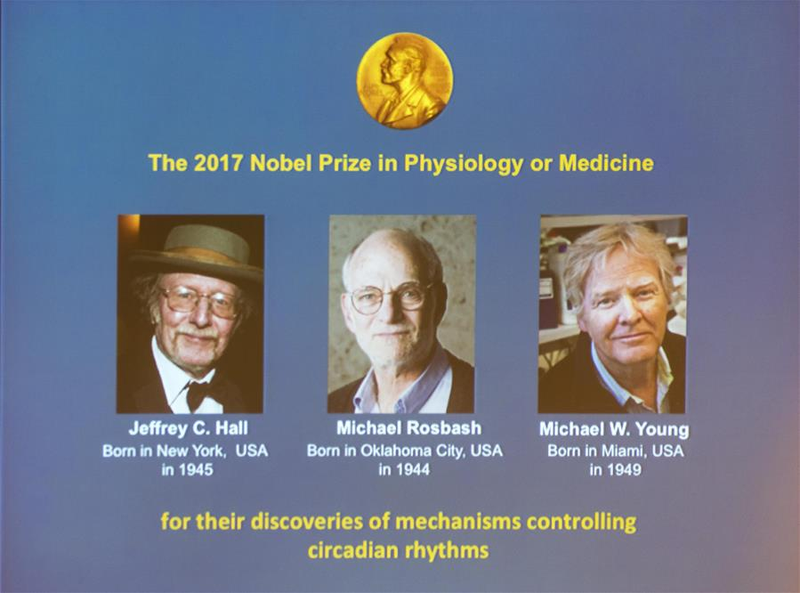 Image result for Three American Scientists Awarded 2017 Nobel Prize for Medicine