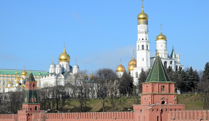 The Kremlin in Moscow, Russia.
