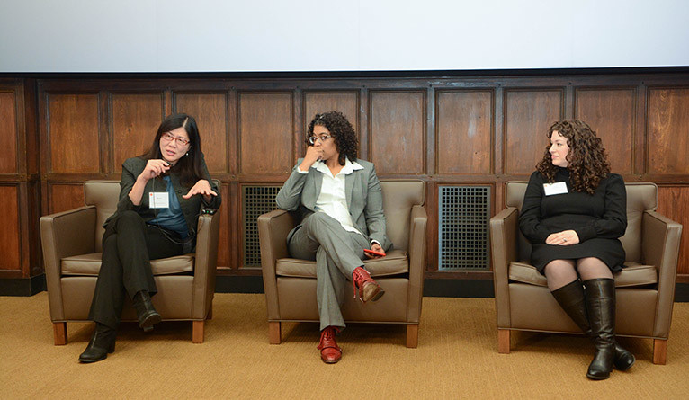 Karen Seto, Tracey Meares, and Dena Schulman-Green at the Yale Day of Data.