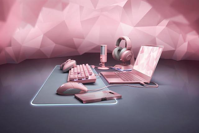 ピンクカラーのRazer ゲーミングデバイス Quartz Pinkシリーズ