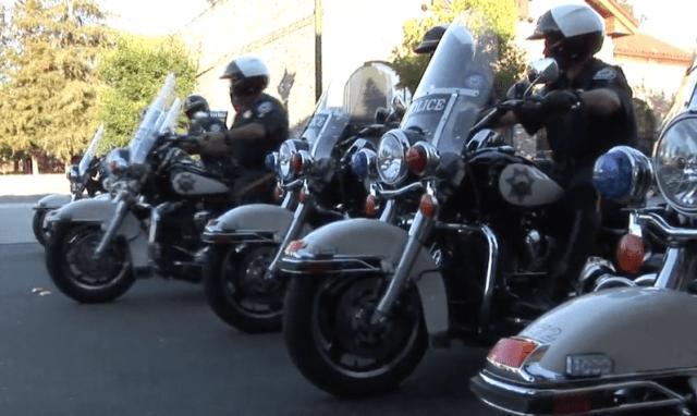 Walnut Creek police, motorcycle patrol, traffic in Walnut Creek, California