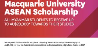 Macquarie University ASEAN Scholarships 2021