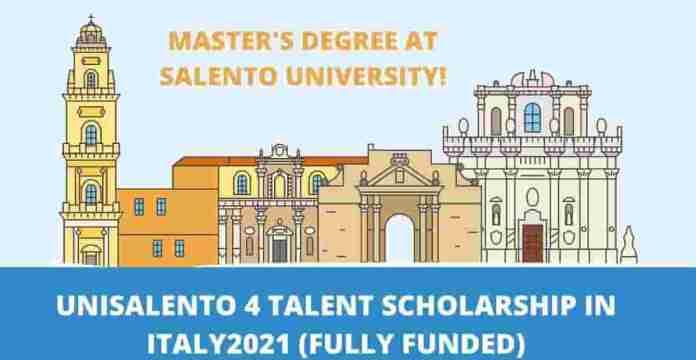 Unisalento 4 Talents Scholarships