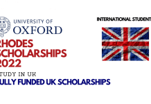 Rhodes Scholarships 2022-2023 at Oxford University: Study for free in UK