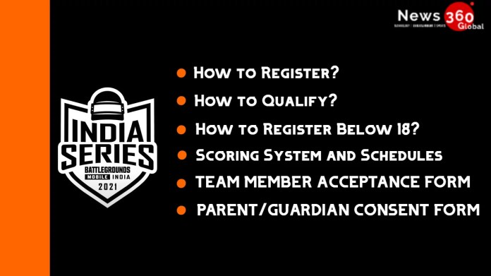 BGMI INDIA SERIES 2021 How to Register, Below 18,  Scoring System, Consent and Acceptance Form