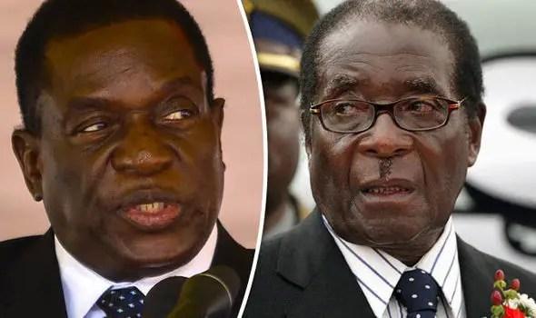 Mnangagwa and Mugabe zimbabwe