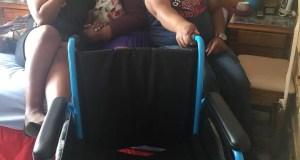 Zahara donates Wheelchair