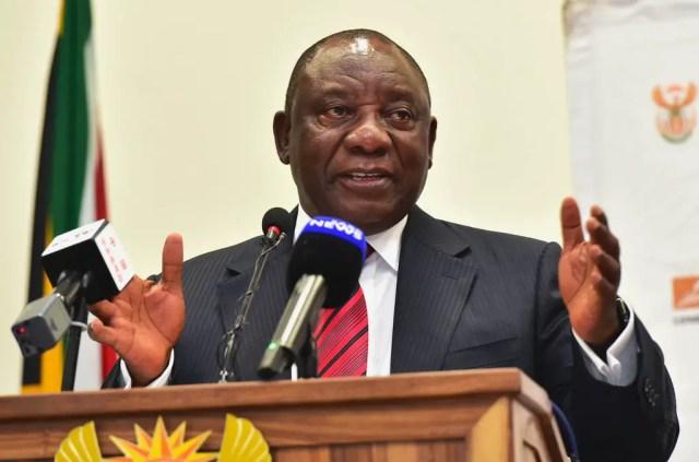 PresidentCyril Ramaphosa