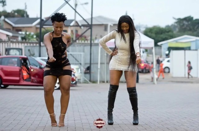 Zodwa Wabantu and Lolly at Eyadini Lounge