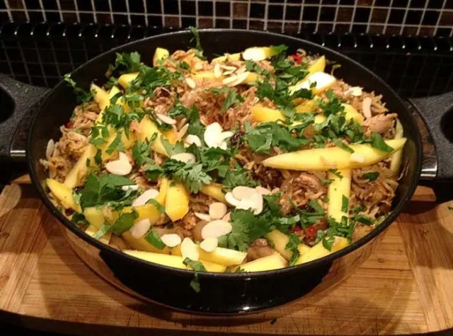 Chicken Coconut and Mango Pilau