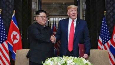 Photo of North Korean media celebrates Trump-Kim summit