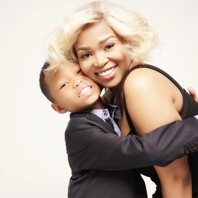Tebogo Thobejani and son