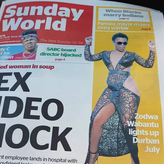 Zodwa Wabantu Dress at Durban July 2018