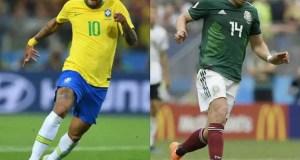 Neymar and Javier Hernandez