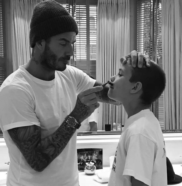 Beckham and son