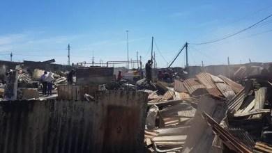 Khayelitsha wood and iron structures