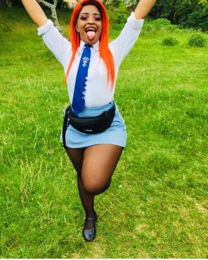 Cindy Makhathini in School Uniform