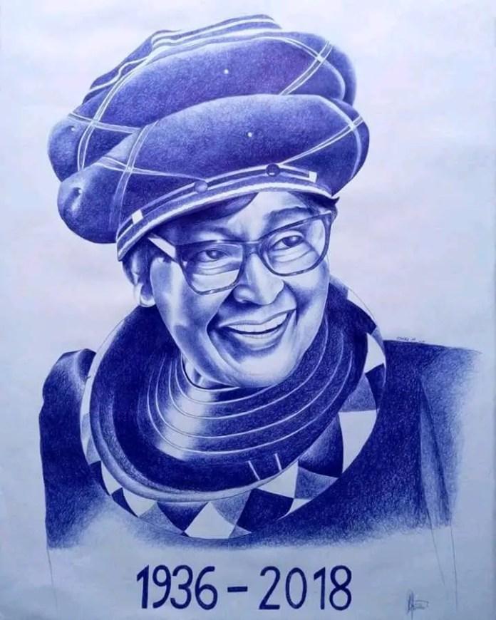 Winnie Mandela Portrait