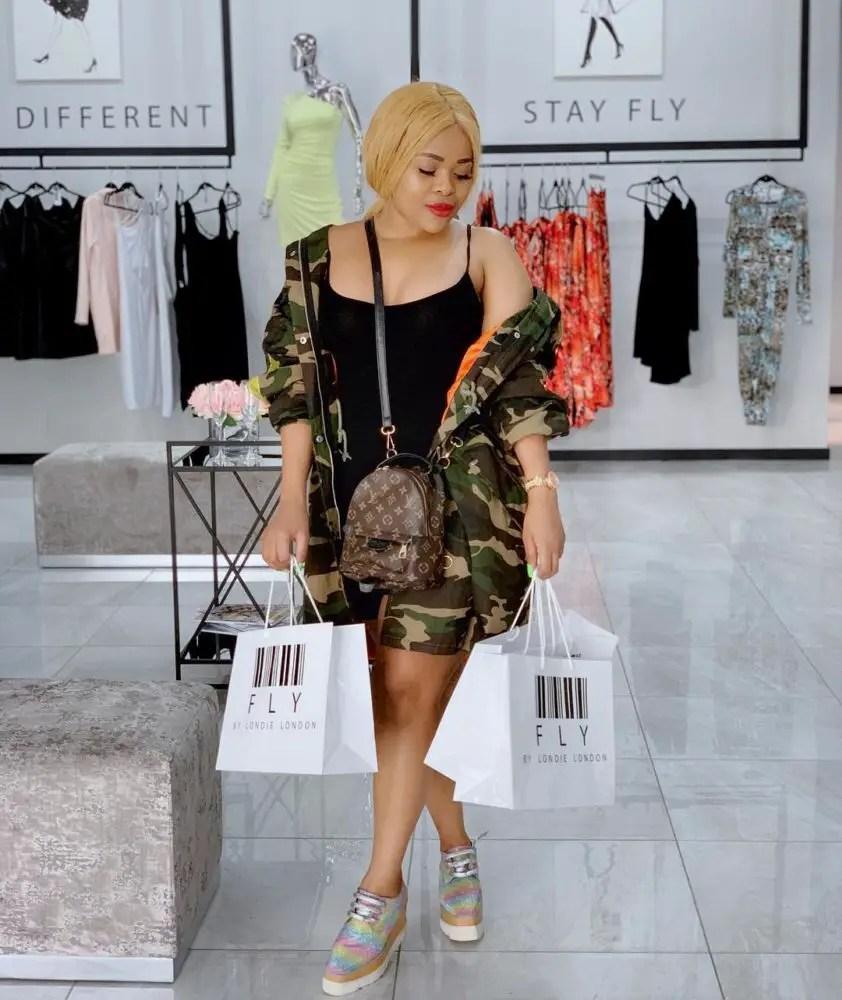 Nozipho Zulu Promoting Londie London's Clothing Line