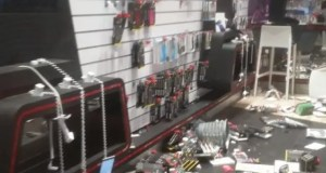 Vodacom store damaged
