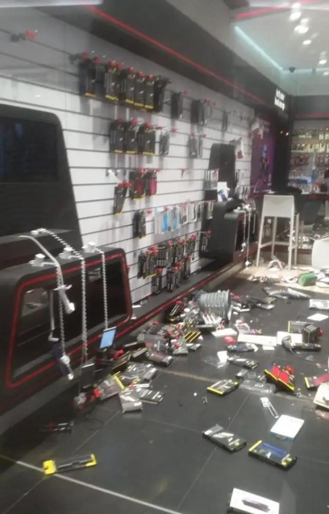 Vodacom store damaged