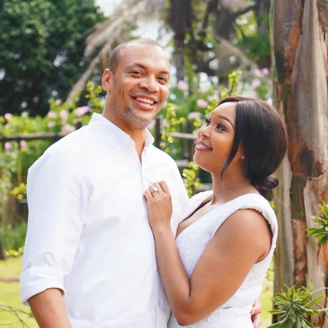Minnie Dlamini and Quinton Jones