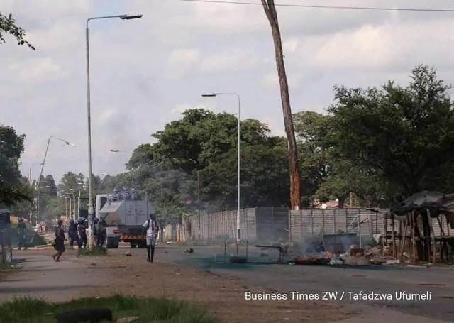 Police Protesters Clash