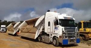 Side tipper truck Driver