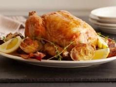 Lemon and garlic-roasted chicken