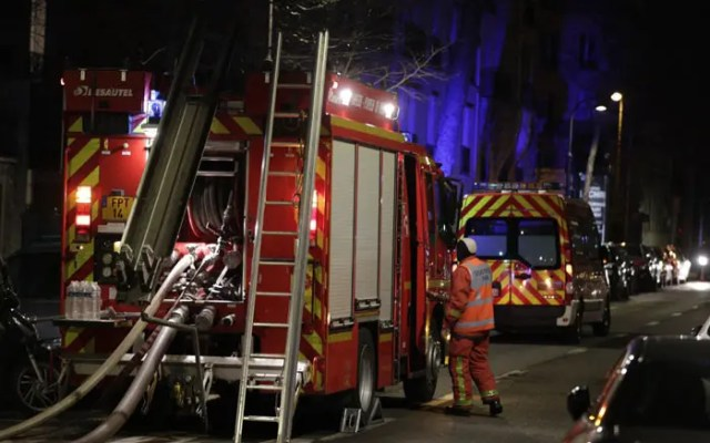 Paris building blaze