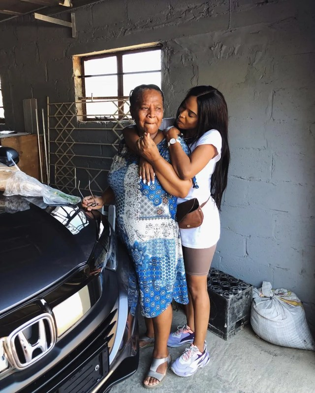 Ayanda Thabethe and her mother