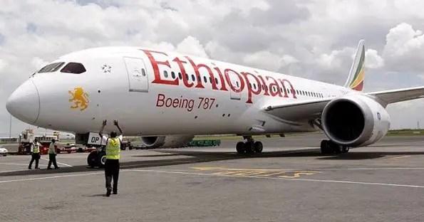 Ethiopian Airplane Boeing 787