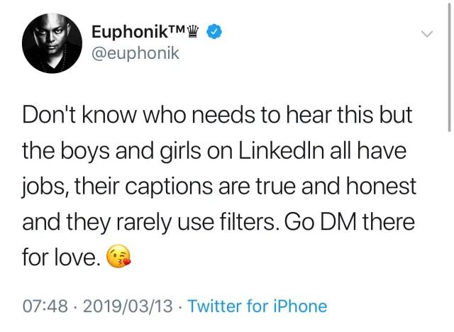 DJ Euphonik Tweet
