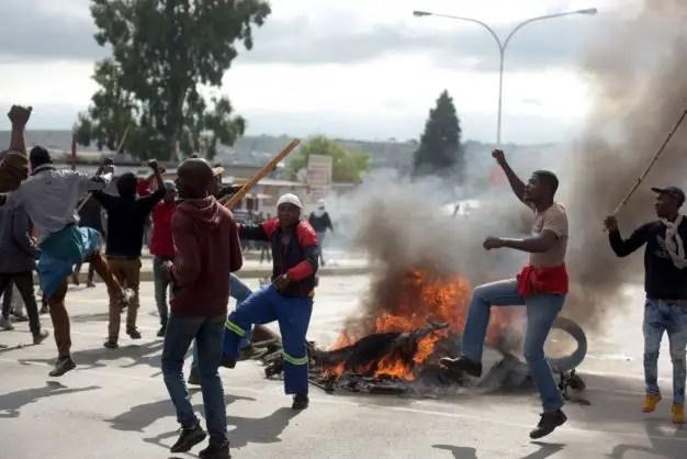 protest in Alexandra